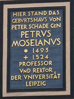 plaque on house front